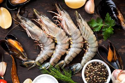 LANGOSTINO ENTERO BLACK TIGER 16/20 - 1 KG